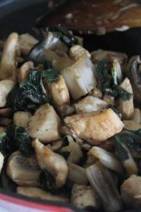 stew; chicken, silverbeet &mushroom (paleo)